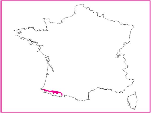 Répartition des landes épineuses pyrénéo-cantabriques