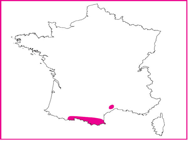 Répartition des Prés humides du languedoc