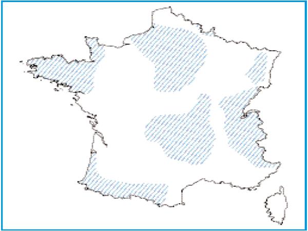 Répartition géographique des tourbières dégradées