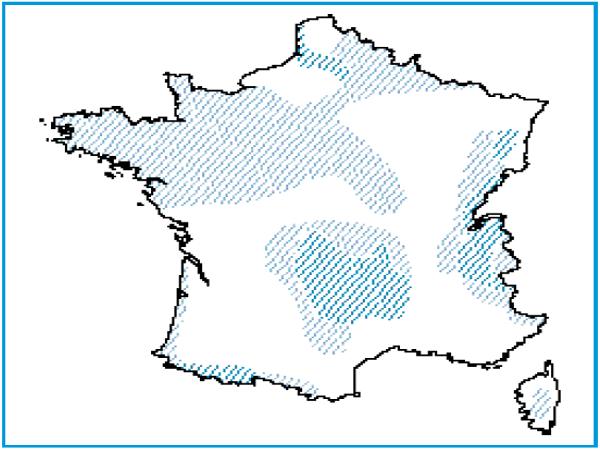 Répartition géographique des tourbières de transition